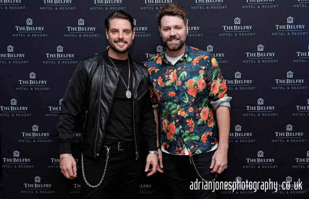 Boyzlife-Brian-McFadden-and-Keith-Duffy-at-The-Belfry-Hotel